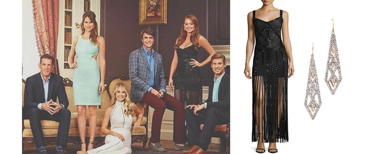 Southern+Charm:+Season+4,+Introduction:+Kathryn+Dennis`+Black+Dress+and+Earrings