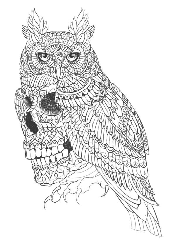 Great Horned Skull On Behance