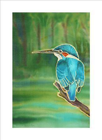 Kingfisher, Silk Paintings 3, Tessa Spanton, SAA Professional Members' Galleries