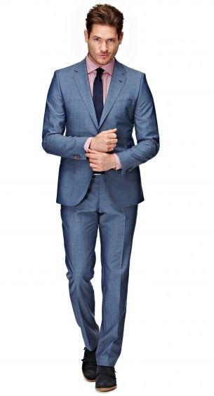 Het Zenar pak heeft een shaped fit waardoor het pak perfect op het lichaam aansluit. Dit extra slank gesneden pak is tweeknoops, heeft een notch lapel, flap pockets en side vents. Extra: aan de rechtervoorzijde van het jasje zit een ticket-pocket.