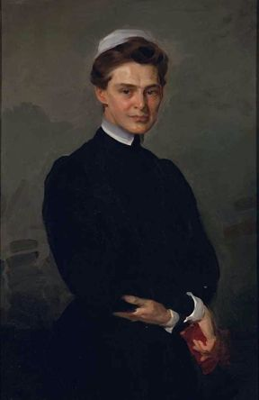Isabel Adams Hampton Robb (1860-1910) was an American nurse theorist, author, nursing school administrator and early leader. She was the superintendent of nurses at the Illinois Training School and the John Hopkins School of Nursing. She became the first president of the Society of Superintendents of Training Schools for Nurses (forerunner of the National League for Nursing) and the Associated Alumnae Association ( forerunner of the American Nurse Association ).