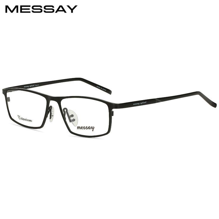 MESSAY Brand Glasses P8184 Titanium Eyeglasses Frames Men Optical Glasses Frame Mens Eyewear Frames suit Prescription Lenses. Yesterday's price: US $64.00 (52.92 EUR). Today's price: US $26.88 (22.12 EUR). Discount: 58%.