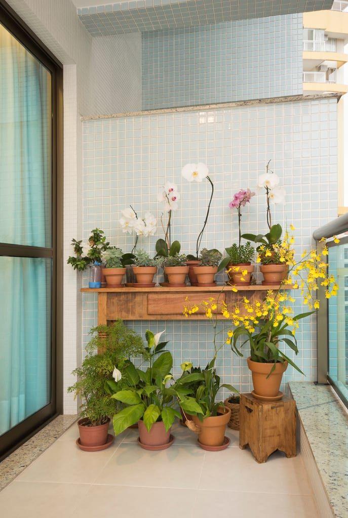 Navegue por fotos de Jardins rústicos: (2015) Apartamento Santa Rosa. Veja fotos com as melhores ideias e inspirações para criar uma casa perfeita.