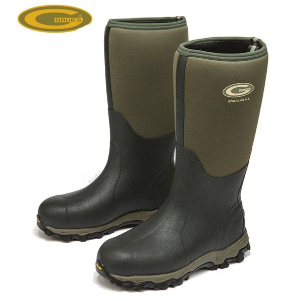 Grubs Snowline 8.5 Wellington Boots in Moss Green will keep your feet cosy even in -40c!