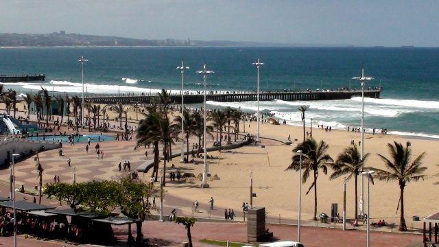 Durban beachfront from the Garden Court South Beach