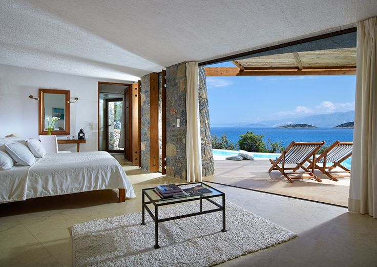 Thalassa Suites in Thalassa Villas Resort, Agios Nikolaos, Crete Island. Thalassa Suites to sleep up to 2 persons and 1 Baby Cot F.O.C. is the newest addition in the Thalassa Villas Complex, comes with cool and designed interior with elegant