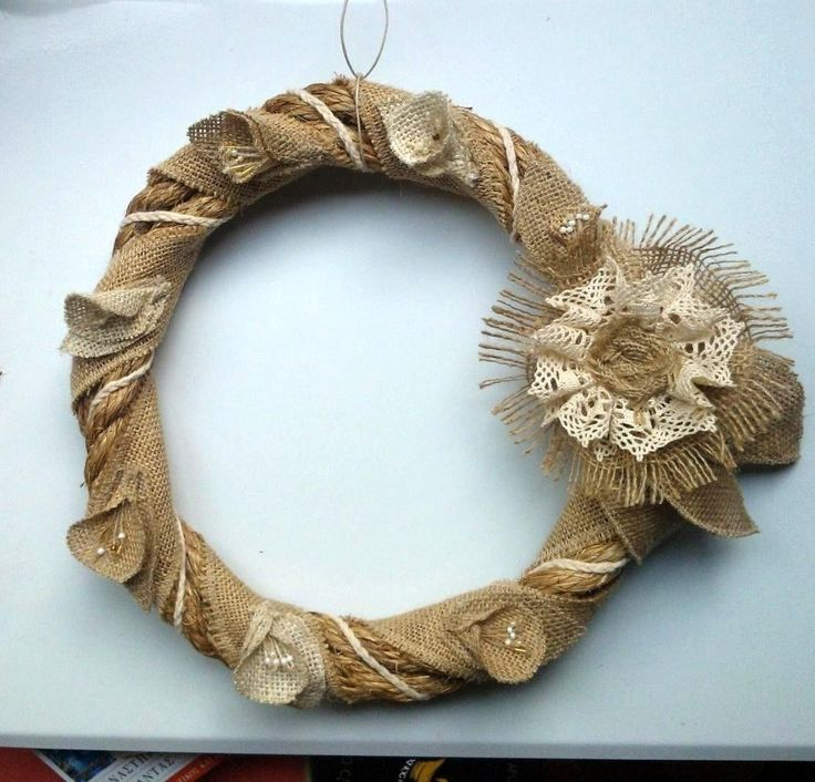 #wreath #spring #flowers #handmade #burlap #lace