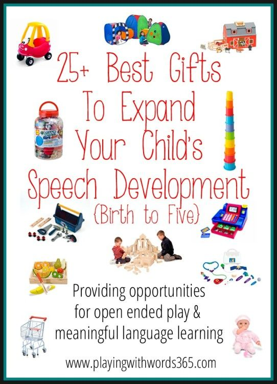 Playing with Words 365: 25+ Best Gifts To Expand Your Child's Speech Development {Birth to Five} Pinned by SOS Inc. Resources. Follow all our boards at pinterest.com/sostherapy for therapy resources.