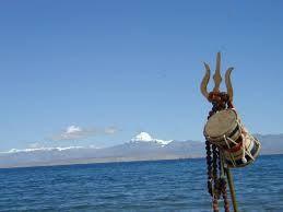 Trisul at Kailash Mansarovar Lake. Tour to Kailash Mansarovar.