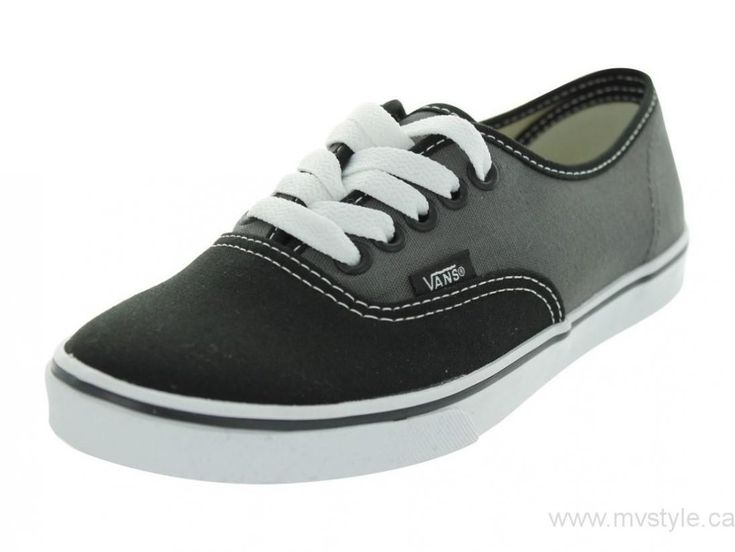 Canada New Vans Authentic Lo Pro Skate Shoes (2 Tone) Black/Dark Shadow