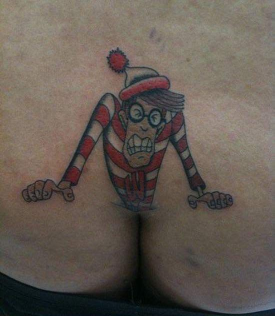 The tat is bad enough but what about the poor artist that spent several hours doing it there. Ewww. NO NO NO.