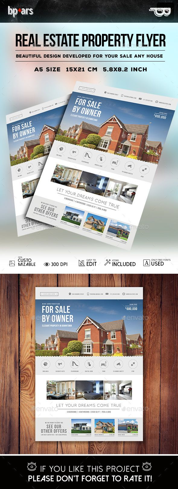 Real State Property Flyer Template PSD #design Download: http://graphicriver.net/item/real-state-property-flyer/14227836?ref=ksioks