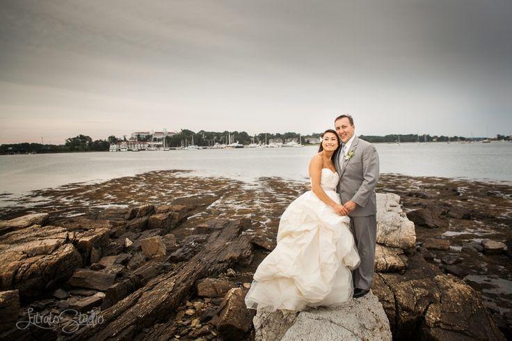 Stunning!  #brideandgroomportrait #weddinggown #weddingattire #wentworthbythesea