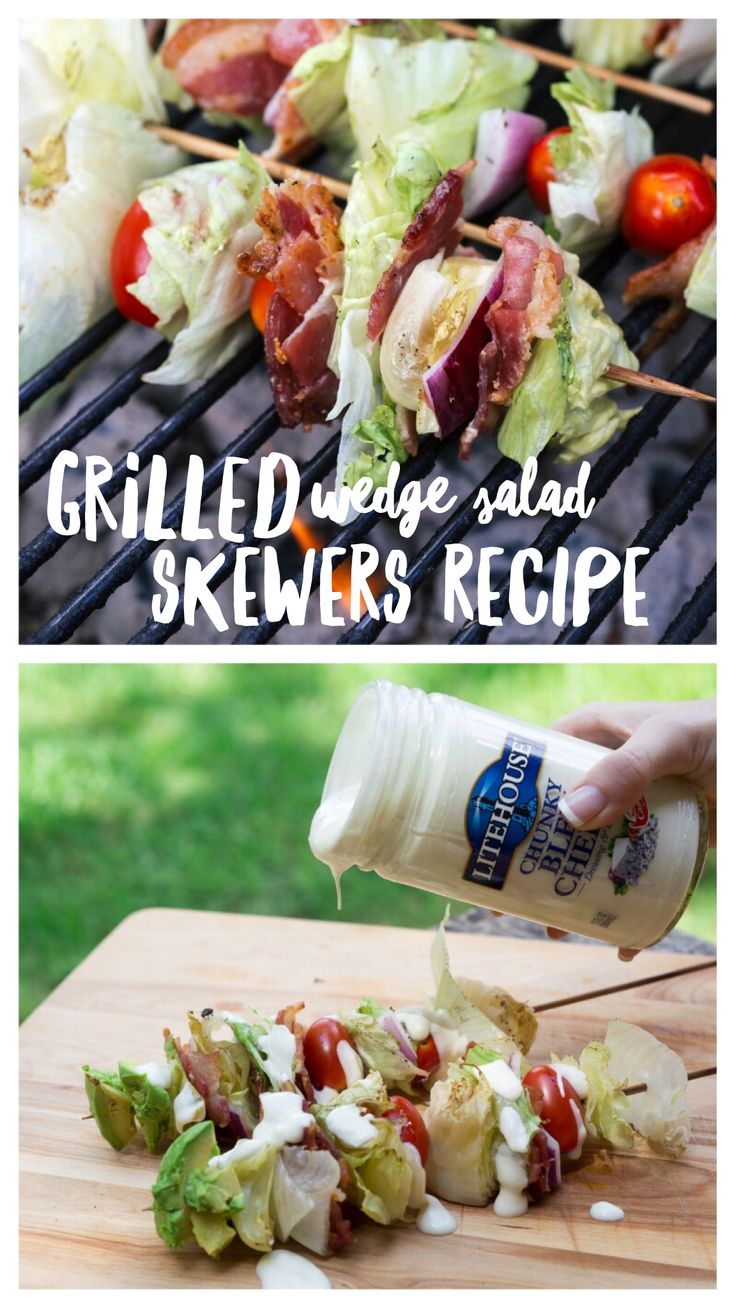 Yum! This grilled wedge salad skewers are the perfect summer side dish! This is…