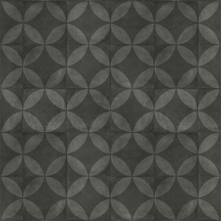 Tarkett   Almara - Tile Flower Black 400 cm breed, €18,74 m2