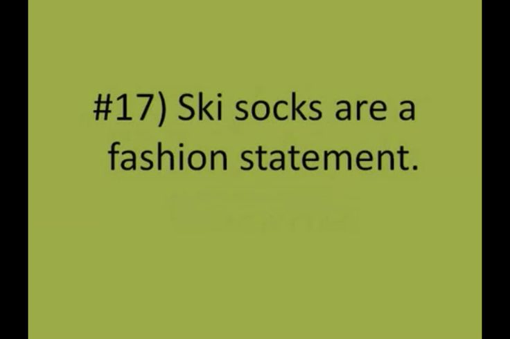 You know you're a ski racer when...