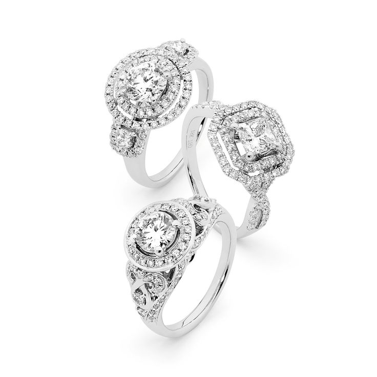 Different diamond shapes will compliment different hands, so be sure to try on different styles before investing in your engagement ring.  Source: Matthew Ely