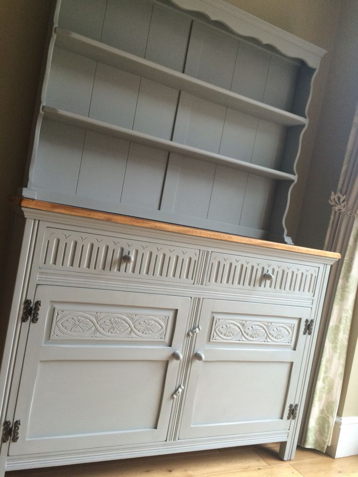 Vintage Jaycee Dresser painted with Autentico chalk paint After Rain