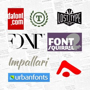 Top 8 Free Font Sites for Print Designers (Chart & Review List) #fonts #typography