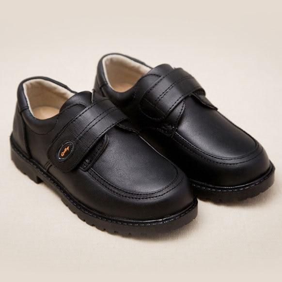 ActhInK New Kids Genuine Leather Wedding Dress Shoes for Boys Brand  Children Black Wedding Shoes Boys Formal Wedge Sneakers bd089f9f6dd9