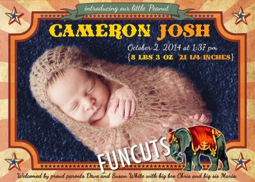 Carnival Circus Baby Announcement, Carousel Baby Shower, Baby Shower