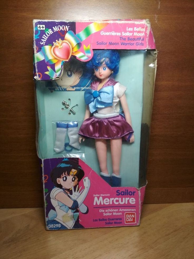 Vintage Sailor Moon Sailor Mercury Doll Figure Toy by Bandai Ref.38298 | Dolls & Bears, Dolls, By Brand, Company, Character | eBay!