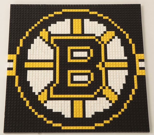 Bruins mosaic (lego, but could maybe be done with perler beads)