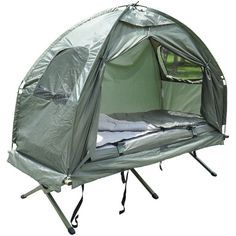 Amazon.com: Outsunny Compact Portable Pop-Up Tent / Camping Cot w/ Air Mattress & Sleeping Bag: Sports & Outdoors