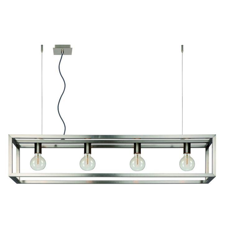 Lucide Oris Hanglamp - Geborsteld staal