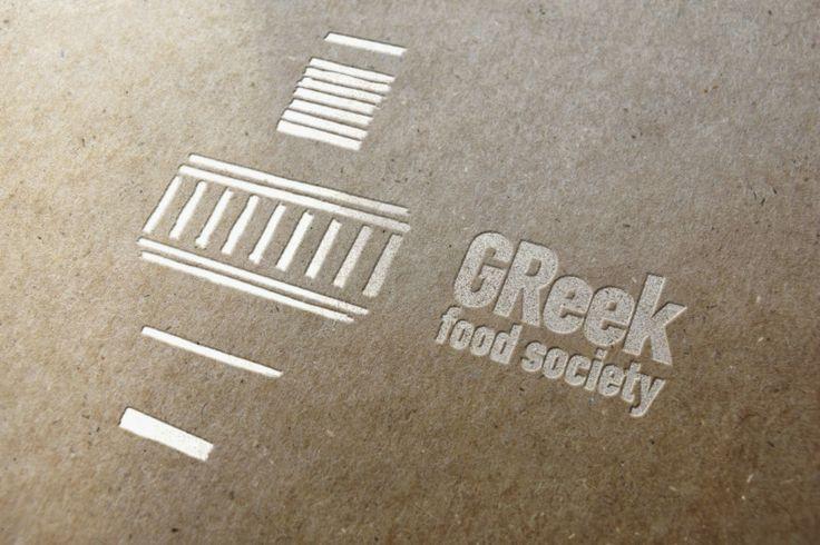 Greek Food Society Letter Press Logo