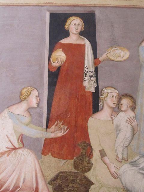 """Cappella alla destra dell'altare maggiore. Affreschi con scene della """"Vita della Vergine"""" di Bartolo di Fredi (1374-1375), copiate dalle per..."""