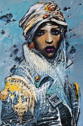 "Bilal . Rare Affiche édition d'Art ""Transit"" Farida"