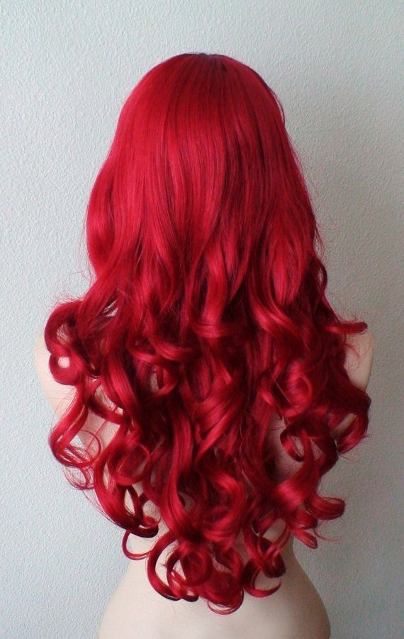 Jessica rabbit cospaly wig. Long red curly hair wig. by kekeshop