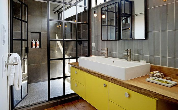 Интерьер ванной комнаты от Robert Nebolon Architects