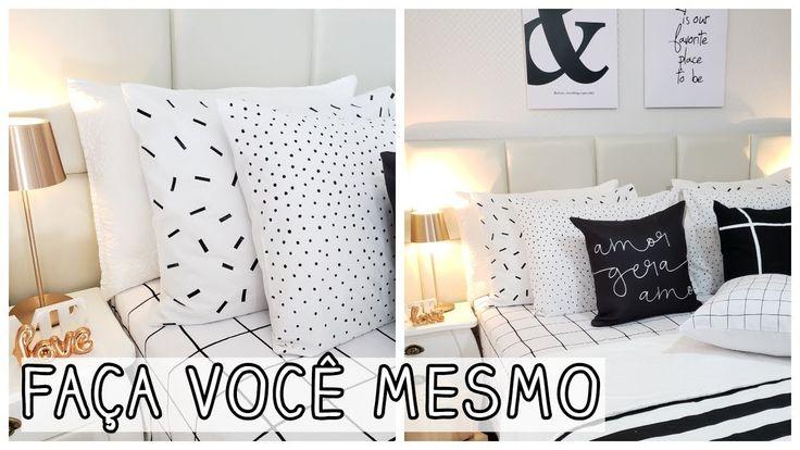FAÇA VOCÊ MESMO roupa de cama minimalista | Viviane Magalhães – YouTube   – TUDO PARA CASA
