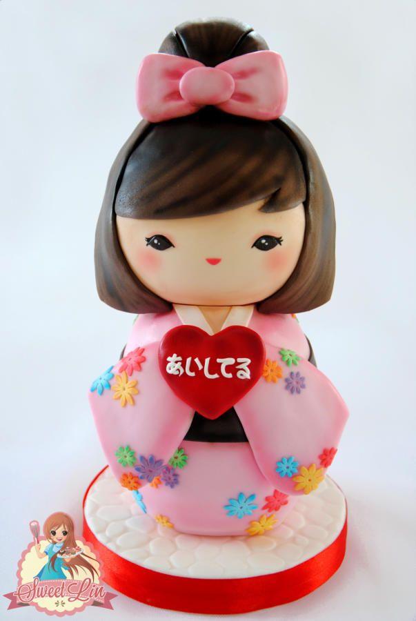 KOKESHI IN LOVE - Love Around The World 2015 Collaboration - Cake by SweetLin
