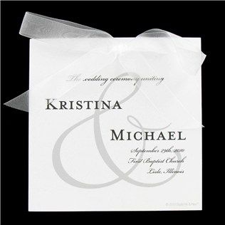 His & Hers White Ampersand Wedding Invitation Set | Shop Hobby Lobby
