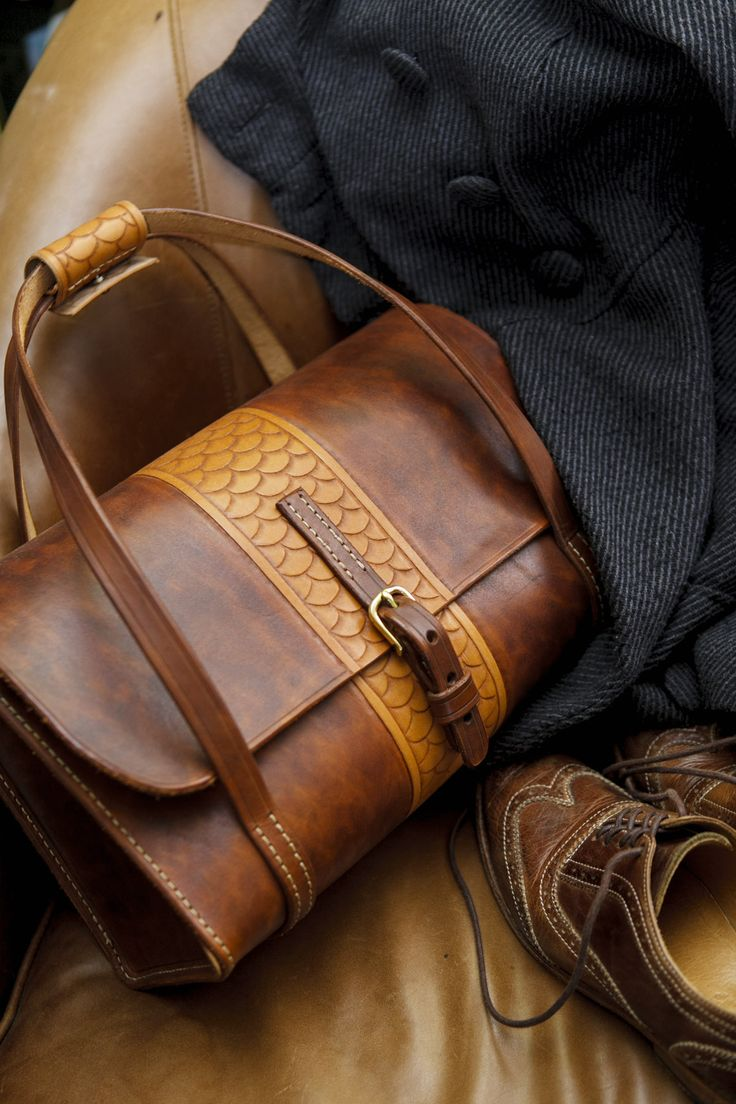 Tooled Weekender Bag | Jacobson Leather