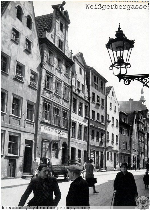 Breslau. Weißgerbergasse (Białoskórnicza) 1930-44.