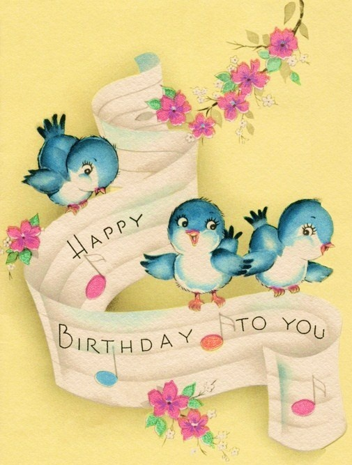 Birthday bluebirds