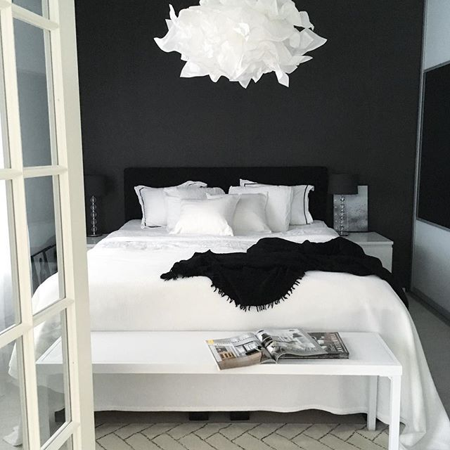 White room black furniture Black Coloured Pinterest Black And White Bedrooms u2026 My Room Pinteu2026