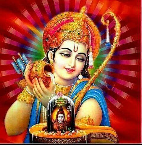Sri Rama puya a Shiva Ligam.