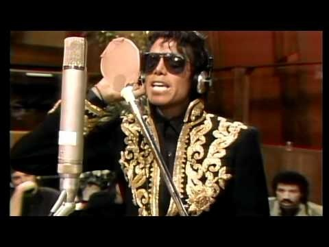 """""""WE ARE THE WORLD, WE ARE THE CHILDREN, WE ARE THE ONES WHO MAKE A BRIGHTER DAY, SO LET'S START GIVING"""": Written by Michael Jackson and Lionel Richie, produced by Quincy Jones, recorded by popular musicians to raise funds to help famine-relief efforts in Ethiopia which experienced unusual drought in 1985."""