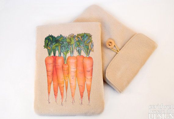 Carrots Digital Media Case ipad Case Kindle Case Tablet Case Padded Sleeve Protective Case by ceridwenDESIGN http://ift.tt/29Dxget