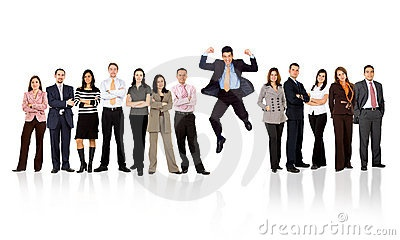image photo : Business team - man standing out