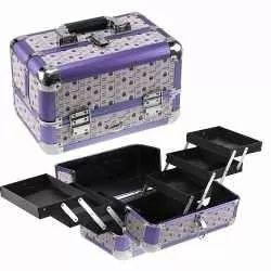 maleta maquiagem profissional grande- organizador maquiagem