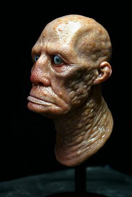 "The gifted Casey Love brings us this amazing bust of the bus driver from Lovecraft's ""The Shadow Over Innsmouth"". He really captures the look of the Innsmouth taint."
