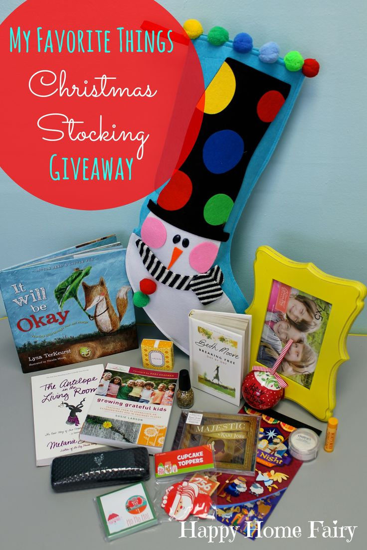 Check out this Awesome Christmas Stocking Giveaway at Happy Home Fairy