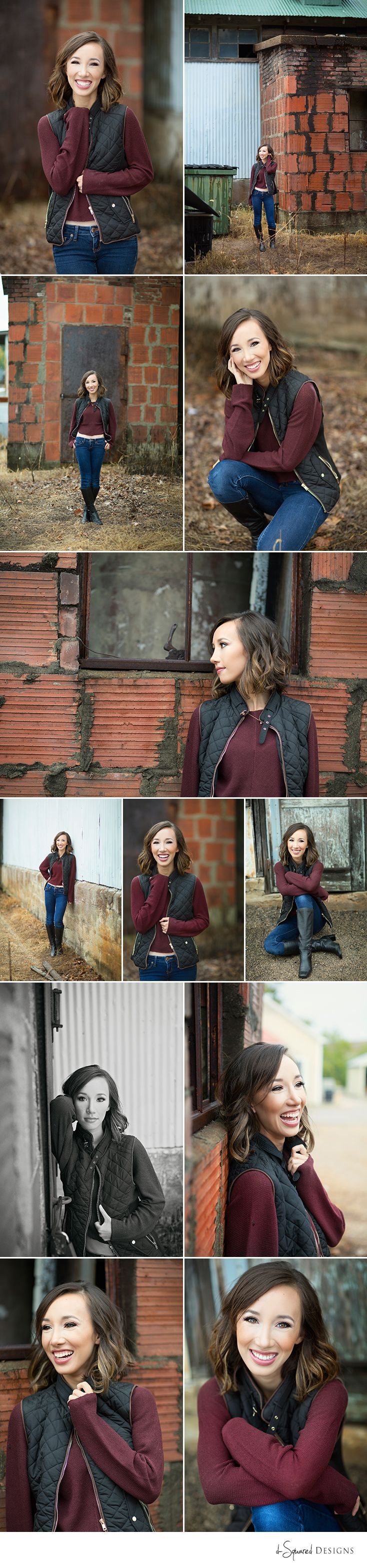 d-Squared Designs St. Louis, MO Senior Photography. Urban senior photography. Brick wall. Gorgeous senior.