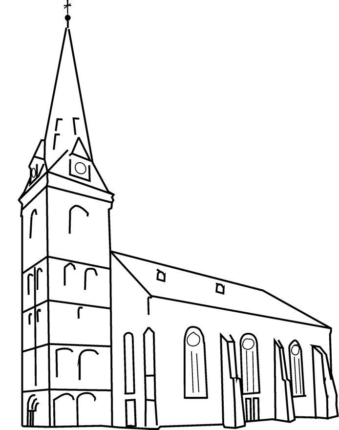 afbeeldingsresultaat voor kerk tekening tekenen kerken